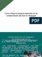 Parque Automotor Contaminacion Aire Arequipa