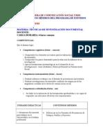 Programas de Estudio Comunicación Social UMSS