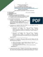 2nd Agenda January 12, 2015
