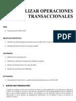 REALIZAR OPERACIONES TRANSACCIONALES