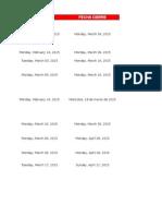 Agenda Especialización 2015-1