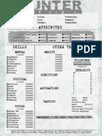 Hunter The Vigil - Mortal Remains Scanned Character Sheet