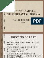 Principios Para La Interpretacion Biblica