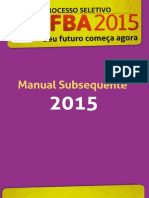 Manual Subsequente 2015
