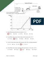 Exam 1 Key, Physics 121 A15
