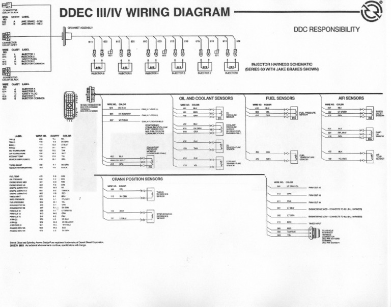 fine ddec ii wiring harness diagram injector pictures electrical rh itseo info ddec 4 wiring diagram wire 510 Series 60 ECM Wiring Diagram