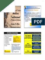 Curso Analisis Institucional y Planificacion Estrategica