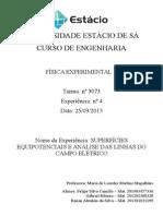 EXP.4 SuperfÃ-cies Equipotenciais