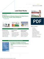 CDCR Reports, Statistics and Cited Works