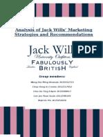 Analysis of JackWills' Marketing Strategies