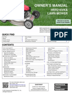 HRR216VKA Lawn Mower Owner's Manual
