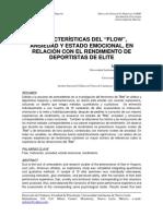 """Características Del """"Flow"""", Ansiedad y Estado Emocional, En Relación Con El Rendimiento de Deportistas de Elite"""