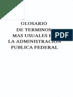 Glosario de Terminos Mas Usuales en La Administracion Publica Federal SHCP