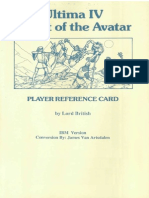 Ultima 4 Reference Card