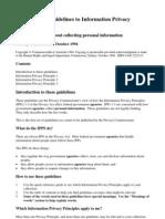 Information Privacy Principles 1 - 3 October 1994