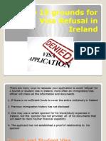 Top 19 Grounds for Visa Refusal in Ireland