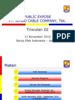 Materi Public Expose JECC - 13 November 2014