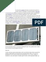 Solar panel Introduction