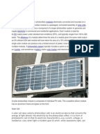 A research paper promoting the use of solar energy is stored