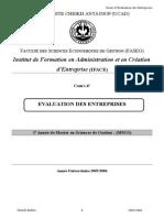 EVALUATION DES ENTREPRISES.doc