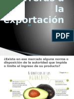 Barreras a La Exportación