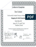 stepping on certificate