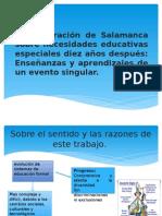 La Declaración de Salamanca Sobre Necesidades Educativas Especiales