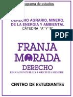 Derecho Agrario, Mineria, De La Energia y Ambiental a y b (1)