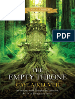 The Empty Throne by Cayla Kluver