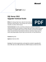 SQL Server 2012 Upgrade Technical Reference Guide White Paper (1)
