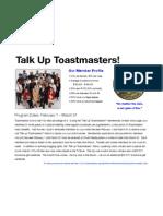 Talk Up Toastmasters!