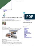 Call SAP Tcode Using Webdynpro for ABAP _ SAP Ignite
