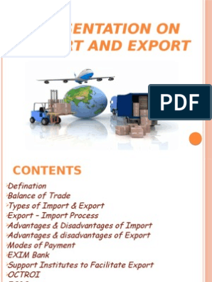 Presentation on Import and Export pptx | Exports | Customs