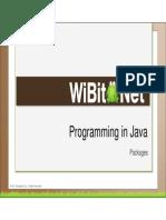 Programming in Java - 10 -Packages