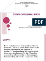 textual equivalence-