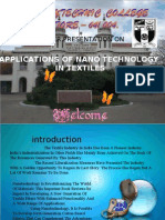 Nanotechnology Applications in Textiles