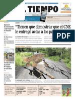 Periodico EL TIEMPO, jueves 13 de Septiembre 2012