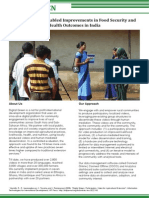 Facilitating ICT-Enabled Improvements in Food Security and Health Outcomes in India