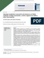 2009. Abordaje Terapuetico y Preventivo de Lesiones en El Futbol, Mediante VF y Ortesis