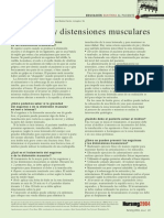 2004. Esguinces y Distenciones Musculares