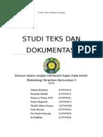 Studi Teks Dan Dokumentasi