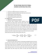 Analisis Neutronik Reaktor Termal