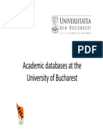 Academic Databases at the University of Bucharest [Mod Compatibilitate]
