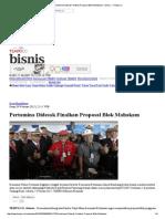 Pertamina Didesak Finalkan Proposal Blok Mahakam _ -Bisnis- _ Tempo