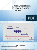 Action Research Model & Kurt Lewin Change Model