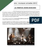 Dossier de Presentation Du Tremplin 2015