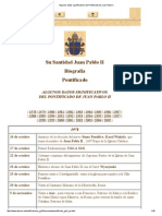 Algunos Datos Significativos Del Pontificado de Juan Pablo II