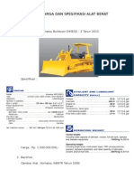 Daftar Harga Dan Spesifikasi Alat Berat