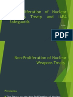 Non-Proliferation of Nuclear Weapons Treaty and IAEA Safeguards