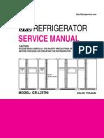 ServiceManuals LG Fridge GRL257NI GR-L257NI Service Manual